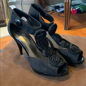 NEW!! Size 7.5 Candies black adorable heels
